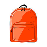 Backpack mockup, sketch for your design