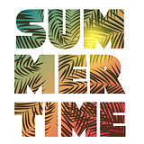 Summer Time Abstract Background. Vector Illustration