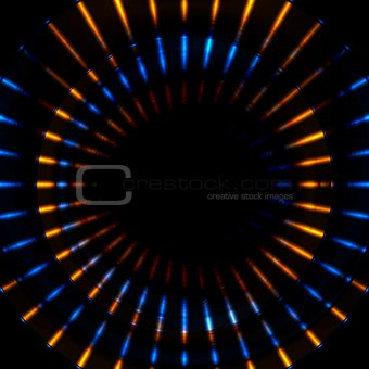 Bright glowing beams stripes vector illustration