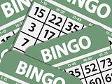 Green bingo cards background