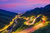 Winding Hillside Roads in Jiufen, Taiwan