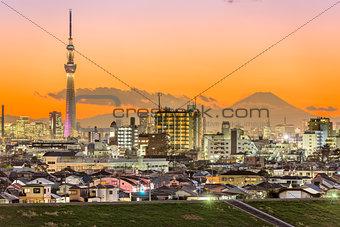 Tokyo Japan and Mt. Fuji