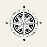Compass rose (windrose) navigational scale