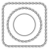 Frames of twisted rope with rounded corners