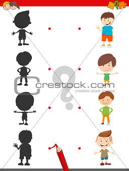 cartoon shadow activity with boys