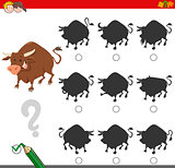 finding shadow game with bull