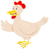 chicken or hen animal character