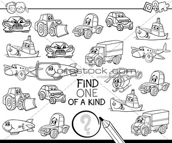 one of a kind coloring page