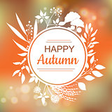Happy Autumn card design