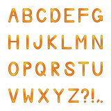 vector shiny letters set