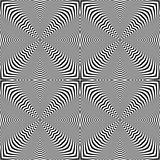 Seamless op art pattern. Lines texture.