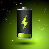Green Battery charging - Alternative Eco Energy Concept.
