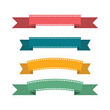 Flat design ribbons