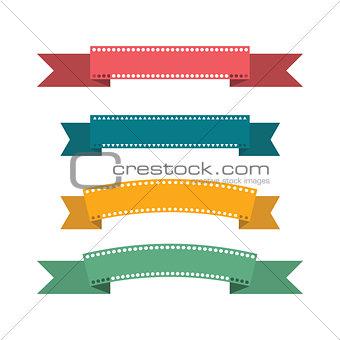 Flat design ribbons