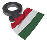symbol for feminine and flag of hungary - 3d rendering