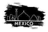 Mexico Skyline Silhouette. Hand Drawn Sketch.