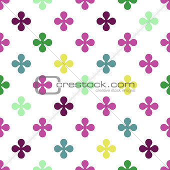 Abstract colourful vector background with flowers