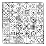 Abstract geometric pattern for your design