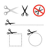 Scissors icon collection