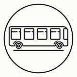 Minimal outline bus icon
