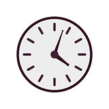 Purple vector clock icon