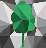 Seamless tree polygon pattern