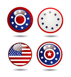United States Flag Glossy Buttons