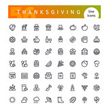 Thanksgiving Line Icons Set