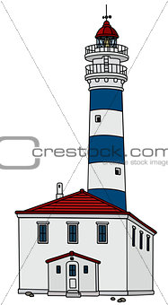 Old stone lighthouse