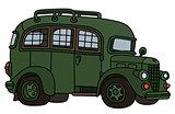 Funny vintage prison bus