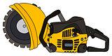 Yellow circular saw