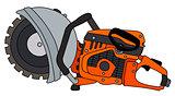 Orange circular saw