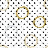Seamless vector texture pattern with hand drawn circles and dots.