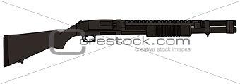 Classic pump shotgun