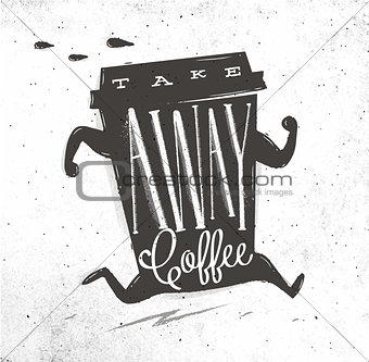 Poster take away coffee