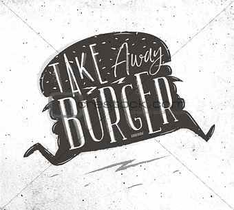 Poster take away burger