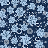 Seamless stars abstract pattern