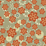 Seamless 60s style circle abstract pattern