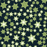 Seamless stars pattern deep green Print