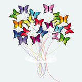 Bouquet of butterflies