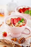 Healthy Breakfast with oatmeal