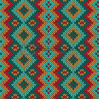 Knitting seamless variegated pattern