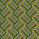 Knitting seamless patchwork pattern