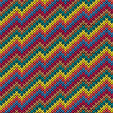 Multicolor zigzag line knitting seamless pattern