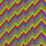 Colouful zigzag line knitting seamless pattern