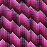 Knitting zigzag line seamless pattern in magenta hues