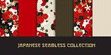 Japanese classic seamless pattern set