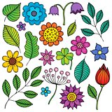 Drawings of flowers and leaves theme 2