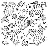 Fish drawings theme image 3