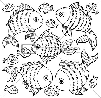 Fish drawings theme image 3